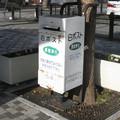兵庫県三木市の神鉄緑が丘駅前の白ポスト、向かって右。(2014年)