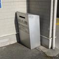 兵庫県加古川市の山陽電鉄浜の宮駅のいわゆる白ポスト。目立つ気なし。(2014年)