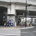山陽本線姫路駅西方北側内々環状西線沿いの白ポストを遠目に見る。(2015年)