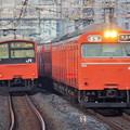 写真: 103系と201系の並び IMGP8598