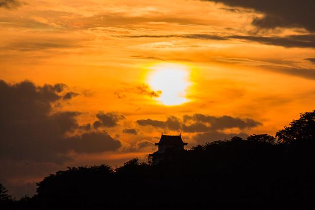 鶴山公園の夕焼け