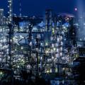 写真: 水島の夜景