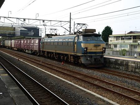 EF66-25+コンテナ車(宝積寺駅)