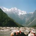 白水河 玉龍雪山 Cascading pools with the mountain
