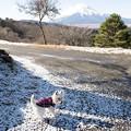 写真: 峠の雪