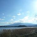 写真: 河口湖と富士山と
