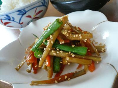 4種の野菜できんぴら