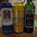 写真: ビールとワイン