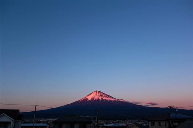 12月9日富士宮からの夕方富士山~ スッキリ綺麗でした(^ ^)