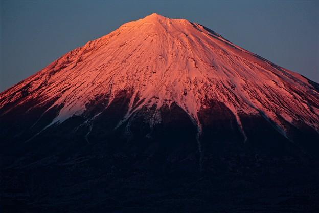 1月11日富士宮からの夕方富士山~ 今日は赤いっ!