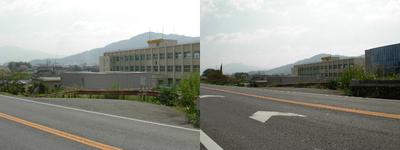 旧国道24号からの学院風景