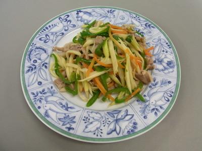 マコモタケの炒め物