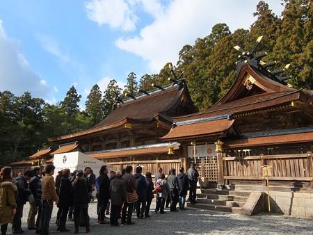 熊野本宮大社11 スサノオの前に長蛇の列