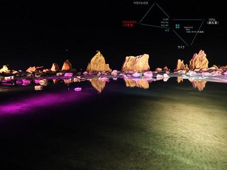 橋杭岩とオリオン座03