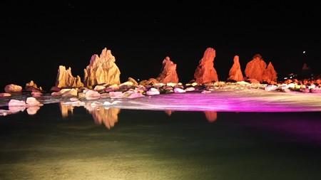 橋杭岩ライトアップ ワイド05