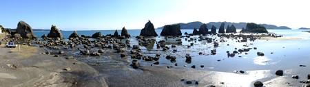 奇勝 橋杭岩パノラマ(昼)