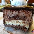 チョコムースの断面