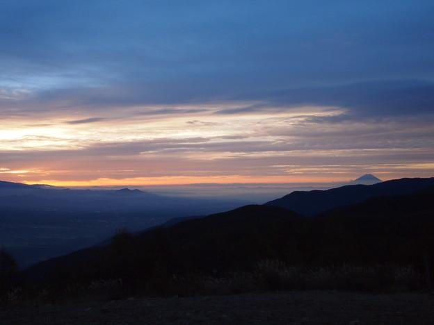 夜明けの富士遠望2