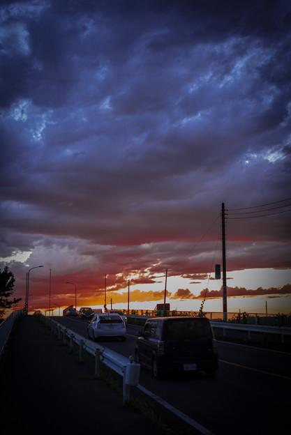 陸橋の夕焼け@久喜