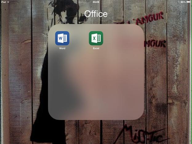 2014.11.07 iPad Windows Office