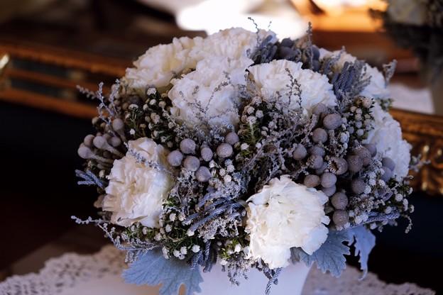 2017.12.12 山手西洋館 ベーリック・ホール 世界のクリスマス オランダ 鏡台の花