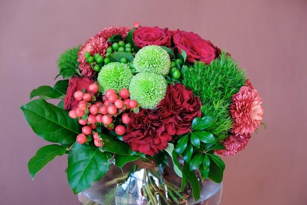 2017.12.12 山手西洋館 ベーリック・ホール 世界のクリスマス オランダ 寝室の花