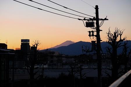 2018.01.03 駅前 富士山