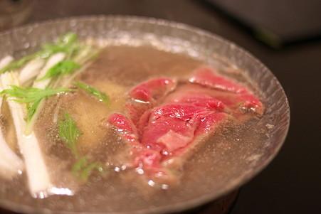2011.03.09 銀山温泉 旅籠 いとうや 夕食-しゃぶしゃぶ
