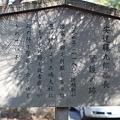 写真: 安達藤九郎盛長警護の後の説明板