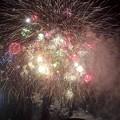 打ち上げ花火下から見てみた-石狩まるごとフェスターニトリ花火20170826
