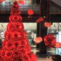写真: 赤いクリスマスツリー
