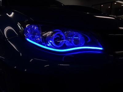 インプレッサGVB 千葉県 NEWアウディ風LED取付