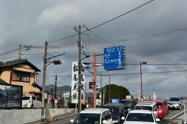 阪急電車からも虹