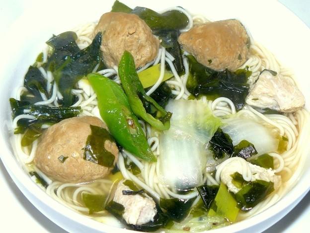 素麺で温麺(うーめん)♪