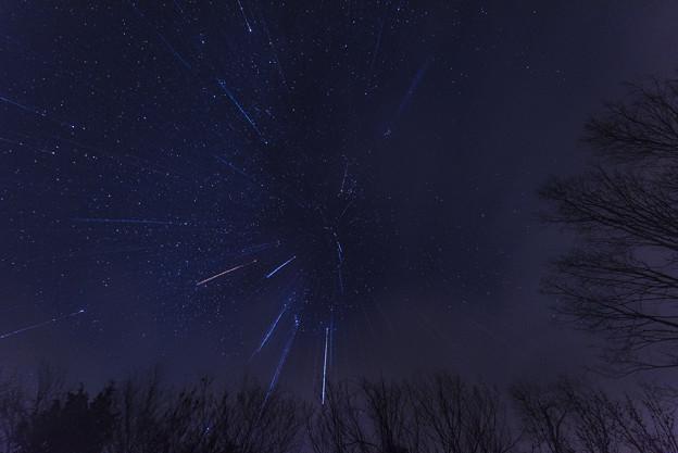 写真: 星降る夜