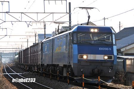 83レ EH200-5+コキx4+タキx3
