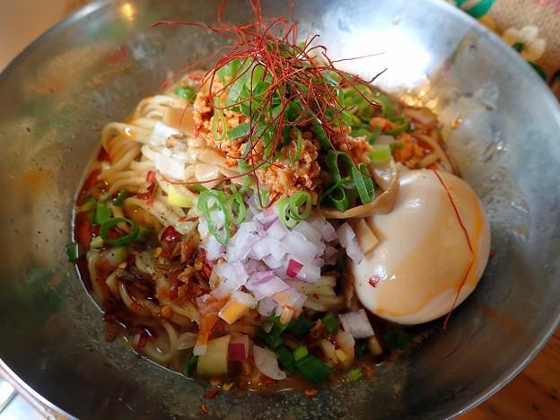 汁なし担々麺@中華そばde小松・大仙市