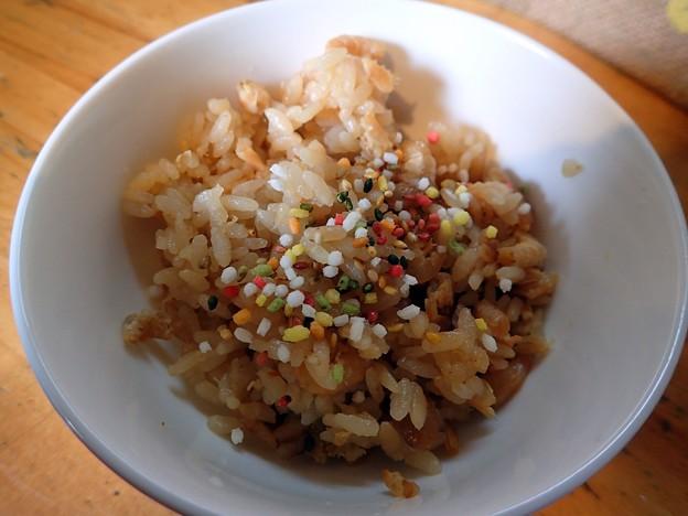 汁なし担々麺のご飯@中華そばde小松・大仙市