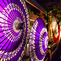 写真: 和傘のライティング