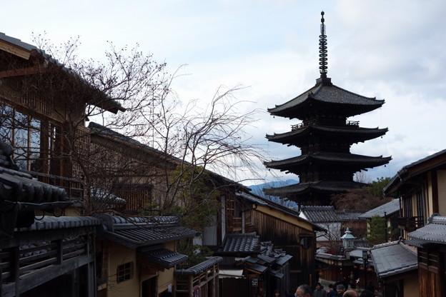 写真: 八坂の塔、晩秋風景!2014