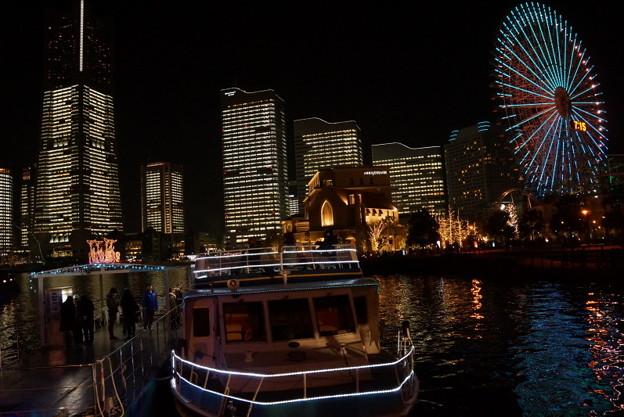 写真: ミナトミライのライトアップ2!