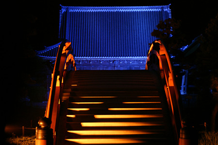 太鼓橋のライトアップ!(100430)