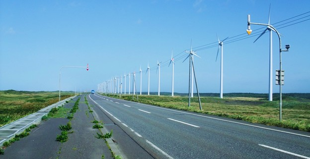 Photos: オトンルイ風力発電所。