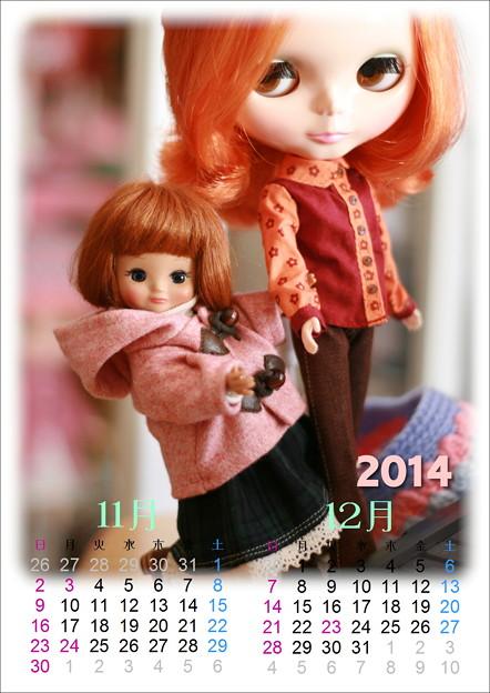 写真: ドールカレンダー201411-12