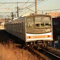 Photos: 夕陽のメルヘン205系 武蔵野線M62編成1558E 東川口にて