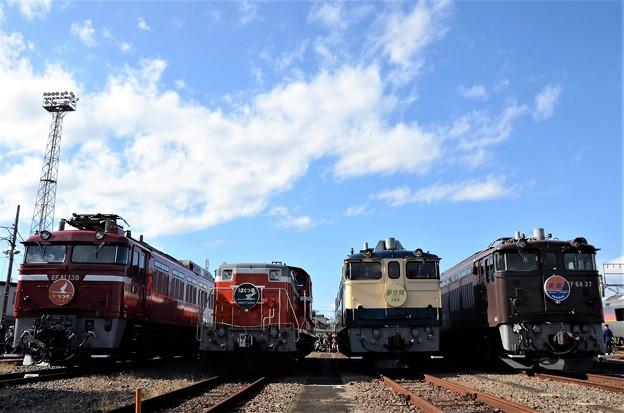 尾久車両センターふれあい鉄道フェスティバル機関車並び