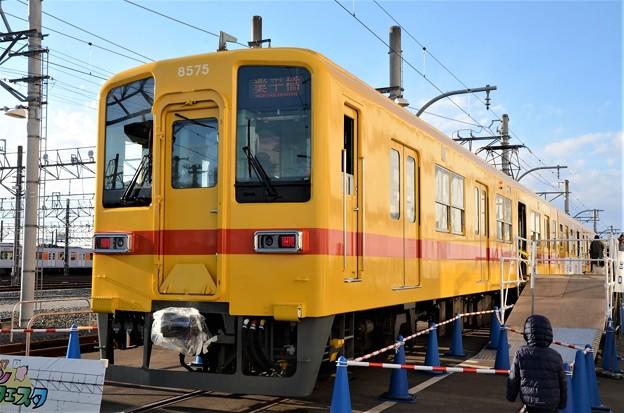 東武8000系昭和30年代試験塗装編成 業平橋行き表示
