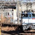 EF65 2075号機牽引臨配8592レ小山東2番発車