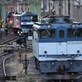 貨物駅 機関車競演