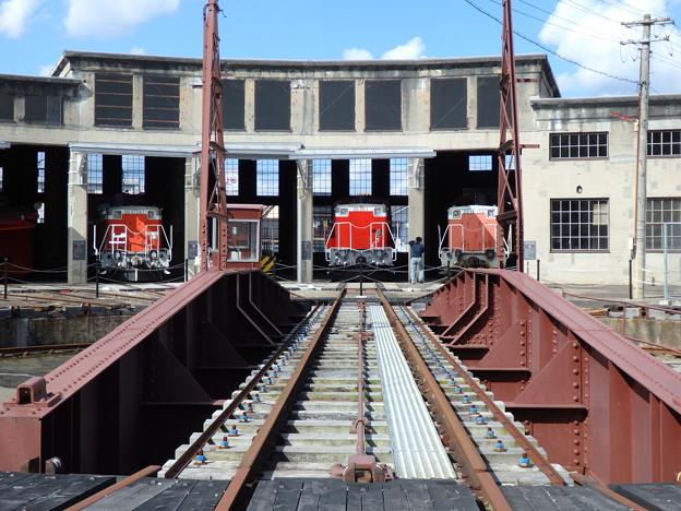 扇状機関車庫